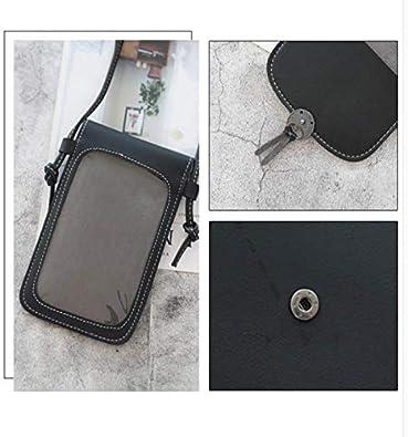 femmes sacs /à bandouli/ère PU double couche cha/îne en cuir petit sac sac /à langer sac de t/él/éphone portable avec dos transparent sac de t/él/éphone et /écran tac ZHT Sac /à bandouli/ère