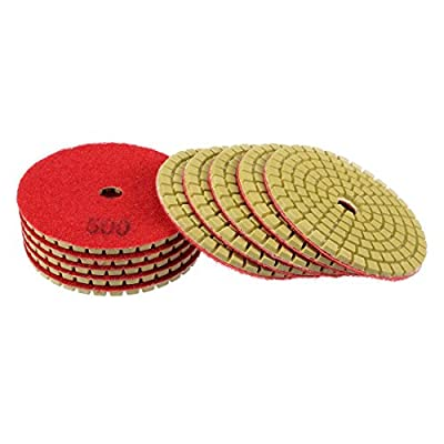 uxcell Diamond Polishing Sanding Grinding Pads Discs 3 Inch Grit 500 10 Pcs for Granite Concrete Stone Marble: Home Improvement