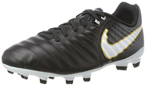 Cleats Footwear - NIKE Tiemp Ligera IV Firm Ground Cleats [Black] (2Y)