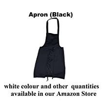 Black Chef Apron Institutional Quality