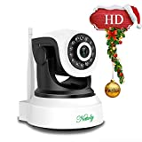 Security Cameras WiFi Ip Camera Wireless Surveillance Cameras Dog/Baby Monitor Video Cam Night Vision Plug/Play Pan/Tilt with Two-Way Audio 1+3M(Total 13 Feet) Power Cable Extension Cable Nettoly