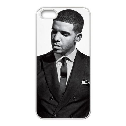Drake 003 coque iPhone 5 5S Housse Blanc téléphone portable couverture de cas coque EOKXLLNCD18877