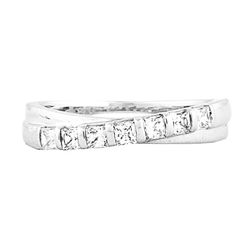 1/2 Carat T.W. Diamond 14kt White gold Anniversary Ring ()