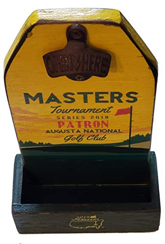 2019 Masters Series Augusta National Handcrafted Wooden Bar Sign Bottle Opener