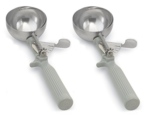 Round Ice Cream (Vollrath 47140 Round Stainless Steel Dishers, Set of 2 (Size 8, 4-Ounce, Gray))