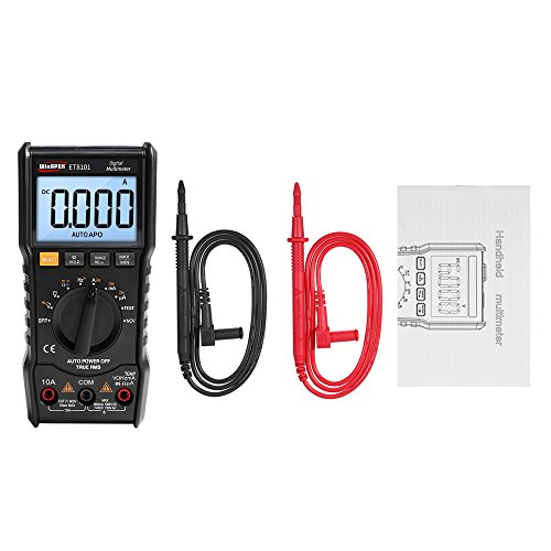 6000 Counts Digital Multimeter Mini DMM Handheld Meter True RMS Measuring AC/DC Voltage Current Resistance Tester LCD Backlit