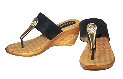 Sahebji Womens Black Synthetic Heels -38