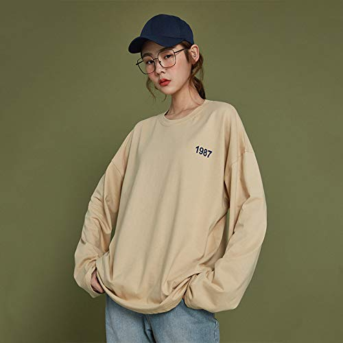 shirt Sauvages À Longues Sweatshirt Paresseux Femme Étudiants Nouveaux Manches Blouse Hoodies Manual 2018 Abricot Sdf Automne T SnFfq6fg