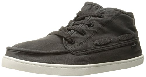 Sanuk Women's Vee K Shawn Chukka Boot, Washed Black, 11 M US
