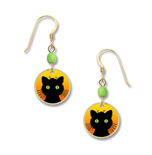 Lemon Tree Lightweight Halloween Cat Dangle Earrings 4008 - Spirit Halloween New Orleans