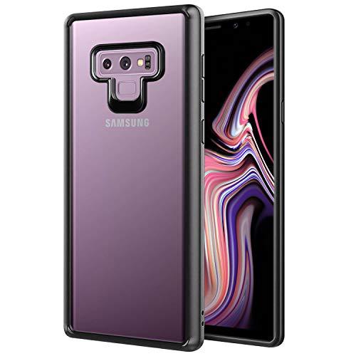 Cellet - Carcasa para Samsung Galaxy Note 9 (Marco de TPU), Color Negro y Transparente