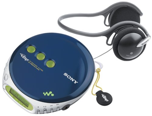 Sony D-EJ360 PSYC CD Walkman (Blue) (Discontinued by Manufacturer) by Sony