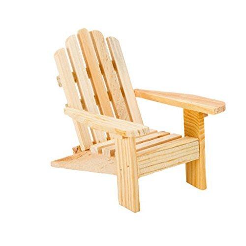 3 Adirondack Chairs Natural Cake Top Beach Theme Wedding by Darice -