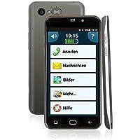 Amplicomms PowerTel M950012,65cm 5Pulgadas Android 5.1Función de Emergencia HÃ rgerã ¤ tekompatibel M4/T4Dual SIM Extra según