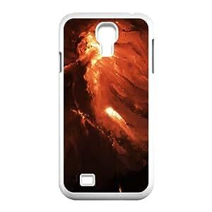 Okaycosama Funny Samsung Galaxy S4 Cases Jack O Lantern Nebula for Girls, Phone Case for Samsung Galaxy S4 I9500, [White]