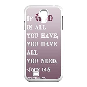 Custom Colorful Case for SamSung Galaxy S4 I9500, John Quotations Cover Case - HL-700454
