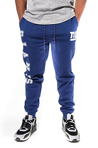 NFL New York Giants Men's Jogger Pants Active Basic Fleece Sweatpants, Large, Blue
