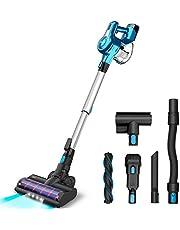 INSE Cordless Vacuum Cleaner, 23KPa Powerful Suction Stick Vacuums, Handheld Bed Vac Rechargeable 2500mAh for Pet Hair Hardwood Floors Carpet Car- S6
