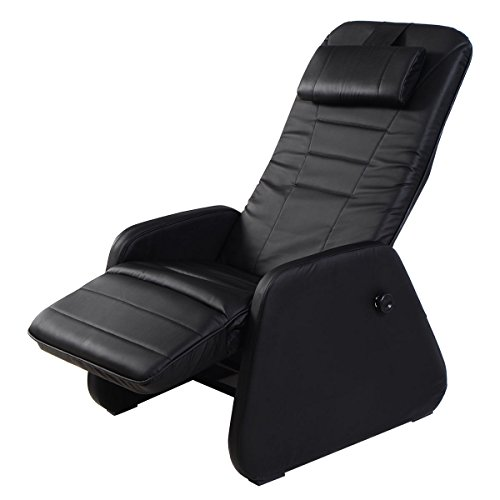 Giantex Zero Gravity Sofa Chair Recliner PU Leather Home Office Furniture(Without Massage Function, Black)
