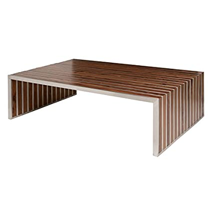 Amazon Com Kathy Kuo Home Holden Stainless Steel Walnut Wood
