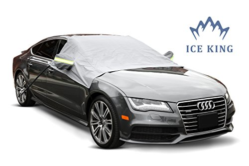 Premium Windshield Snow Cover - Durable Weatherproof Design - Protects Windshield, Wipers, and Mirrors - (2016 Model)