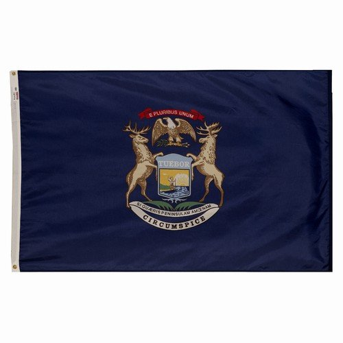 4x6 Michigan State Flag American Made Superior Outdoor Nylon