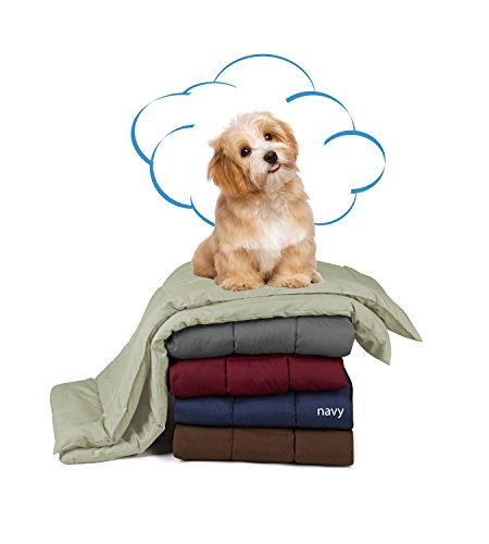 Swift Home Pet Comforter, Dogs and Cats Blanket and Throw, Perfect for Home, Car, Pet Bed, Crate Pad, in a Pet Carrier, and More. Soft, Lightweight Warmth, Durable, and Washable - Navy, S/M