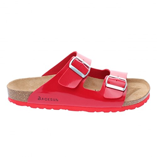 Backsun - Tongs / Sandales - Bali Homme Rouge Vernis Semelle Rouge - Rouge