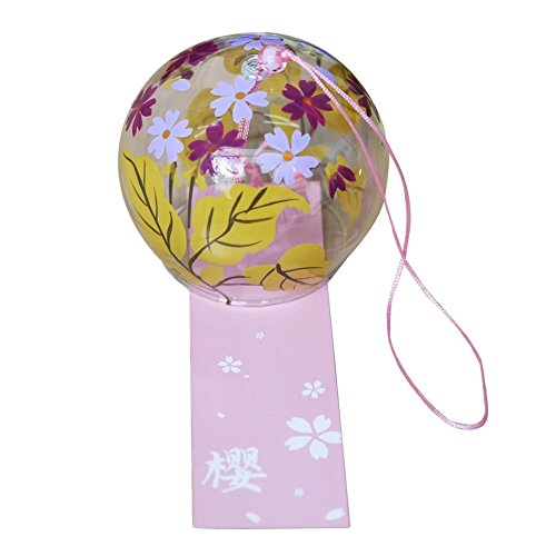 Japanese Wind Chimes Wind Bells Handmade Glass Birthday Gift Valentine's Day Gift Home Decors Kitchen Decors Spa Decors Garden Decors Window Decors Autumn Sakura Review