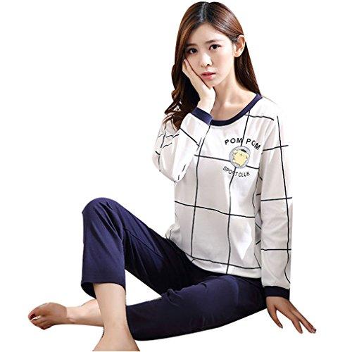 primavera Naughtyspicy animato pigiama cartone di autunno carina e Sport da stampa White di donna completo di Navy Club pigiama HHpxwr7Fq