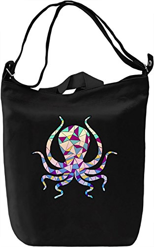 Geometric Octopus Borsa Giornaliera Canvas Canvas Day Bag| 100% Premium Cotton Canvas| DTG Printing|