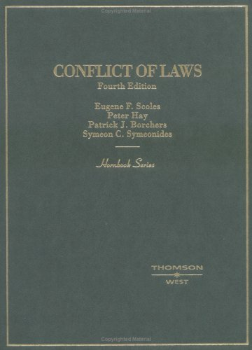 Conflict of Laws (Hornbook Series and Other Textbooks)