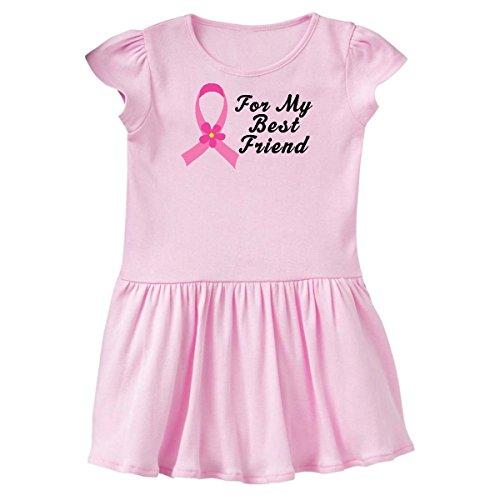 inktastic - Pink Ribbon for Best Friend Toddler Dress 4T Ballerina Pink de01