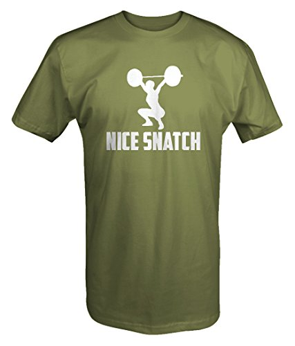 Price comparison product image Nice Snatch Gym Lifting Deadlift Crossfit Girl T Shirt - Xlarge