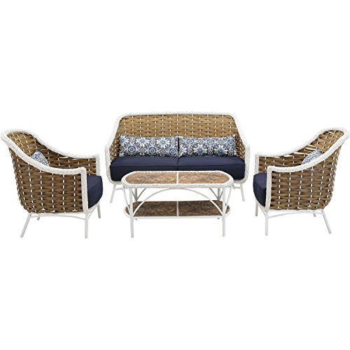 Hanover Outdoor Athens 4 Piece Patio Set For Sale