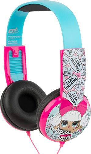 Sakar International HP2-03136 LOL Surprise Headphone, Volume limiting Technology, Kid Safe Technology with Volume Control, Built in Volume Limiter, Cushioned Ear Pieces, Blue/Pink