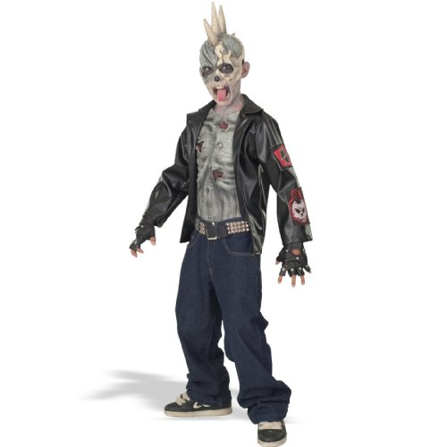 Zombie Halloween Costume (Punk Zombie Kids Costume)