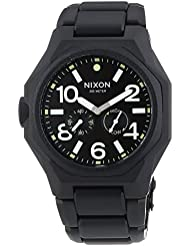 Nixon The Tangent Matte Black/Surplus Black Dial Black Ion-plated Watch A3971042