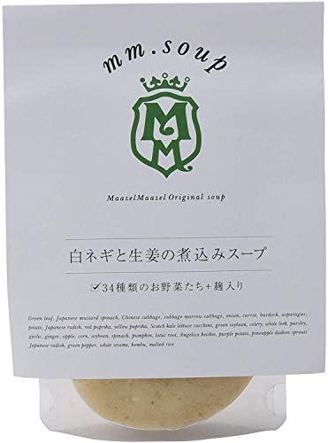 mm.soup 白ネギと生姜の煮込みスープ 180g×6P 34種類の純国産野菜と伝統発酵食材の米こうじが入った食べるスープスムージー
