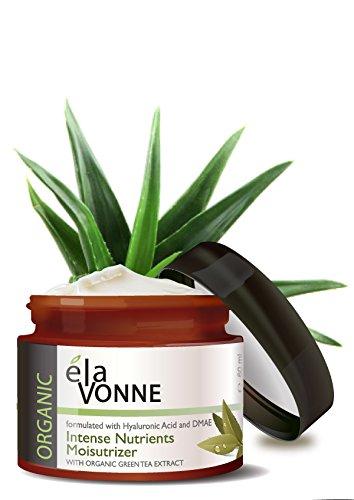 Elavonne Organic Moisturizer - Intense Nutrients (2 oz) - w/ Hyaluronic Acid