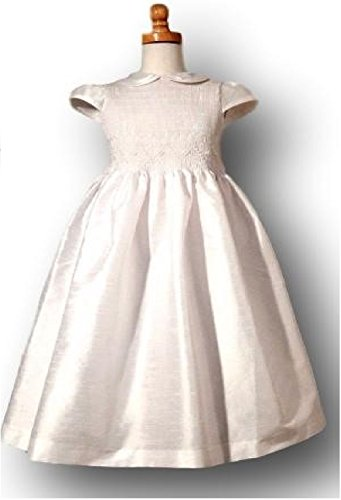 Summa First Communion White Smocked Dress Hand Made (12)