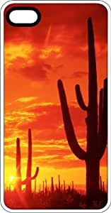 Desert Cactus White Rubber Case for Apple iPhone 4 or iPhone 4s
