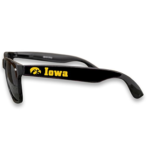 Iowa Hawkeyes Black Plastic Frame Classic Sunglasses with Logo