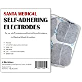 "Santamedical 40 pack of 2"" X 2"" Re-Usable TENS/EMS Unit Electrode Pads with Premium Gel (White Cloth)"