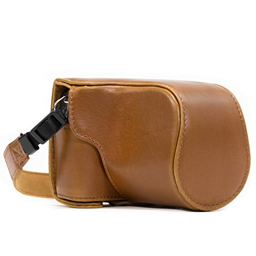 MegaGear Ever Ready Camera Case, Bag for Canon EOS M10 Mirrorless Digital Camera with 15-45mm Lens (Light Brown)