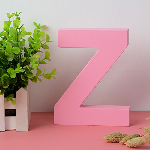 Decorative Wood Letters Z Hanging Wall 26 Letters Wooden Alphabet Wall Letter for Children Baby Name Girls Bedroom Wedding Brithday Party Home Decor-Letters Wooden Wall Decor Kit