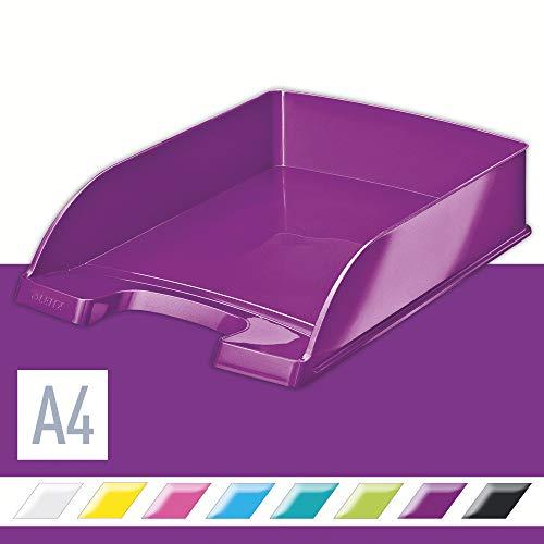 Leitz Bandeja portadocumentos WOW, A4, Púrpura metalizado, 52263062