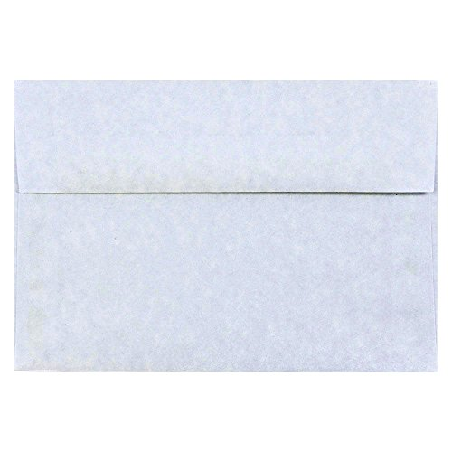 - JAM PAPER A8 Parchment Invitation Envelopes - 5 1/2 x 8 1/8 - Blue Recycled - 50/Pack
