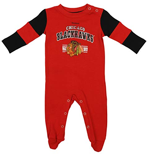 Outerstuff Chicago Blackhawks Hockey Vintage Style Coverall, 0-3 Months