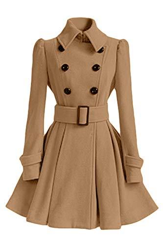 Cruzado Brown De Mangas Outwear Mediados Cuello Otoño Largo Cinturón Coat Con Invierno Casual Women Abrigo Sijux Famale Trench Lady Polo Largas E nOqHq1E8xw